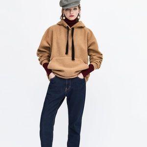 Zara faux shearling sweatshirt